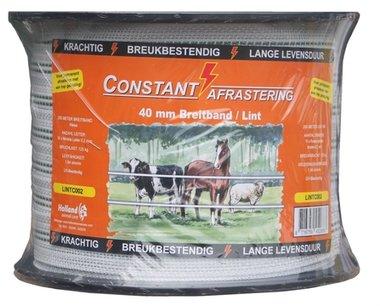 Lint Constant 200 m / 40 mm wit