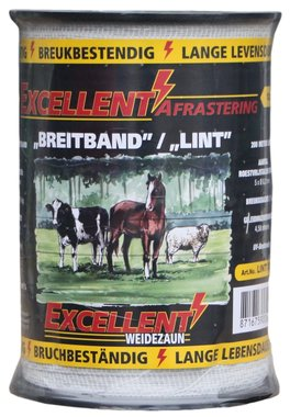 Lint Excellent Eco 200 m / 12,5 mm wit