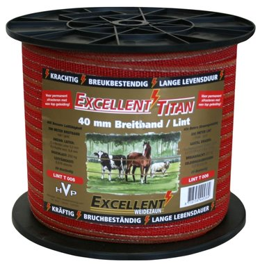 Lint Excellent Titaan 200 m / 40 mm Rood/Goud