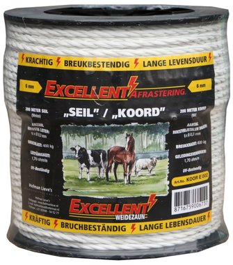 Koord Excellent Eco 200 m / 6 mm wit